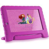Tablet 7Pol - Multilaser Disney Princesas Plus (Quad Core - 8Gb - Wifi) - Rosa - Nb 281