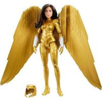 Boneca Wonder Woman 1984 Mattel Com Acessórios - Unissex-Dourado