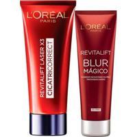 Kit 1 Creme Facial Antirrugas Revitalift Laser X3 Cicatri-Corret 30Ml 1 Revitalifit Blur Mágico 27G - Unissex