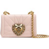 Dolce & Gabbana Bolsa Transversal Devotion Micro - Rosa
