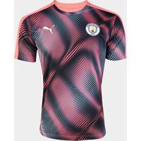 Camisa Manchester City Pré-Jogo 19/20 S/Nº Puma Masculina - Masculino