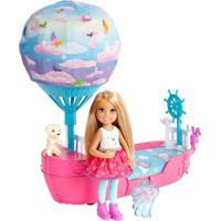 Boneca E Barco Barbie - Barbie Dreamtopia - Chelsea Com Barco Balão - Mattel