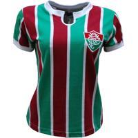 Netshoes  Camisa Liga Retrô Fluminense 1976 Feminino - Feminino 9544d07802263