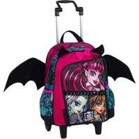 Mochilete Média Monster High 16Z Infantil Sestini - Feminino-Rosa