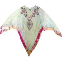 Xale – Pashmina- Visc Pon Bic - Pink/Verde Fl