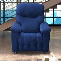 Poltrona Reclinável Mx 38 Virtus 00610.0433 Azul Escuro/Veludo - Matrix