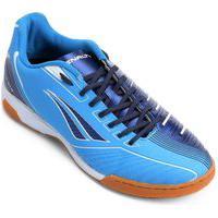 Chuteira Futsal Penalty Digital Viii 124133-6931, Cor: Azul/Branco, Tamanho: 37