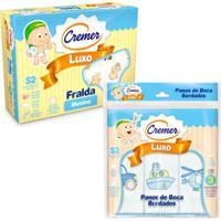 Kit De Acessórios Baby Com Fralda De Luxo E Paninho De Boca - Meninos - Cremer