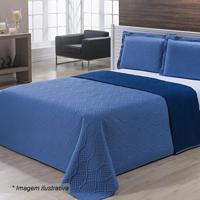 Kit De Colcha Bergamo King Size - Azul Claro & Azul Mariniazitex