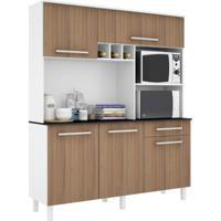 Cozinha Compacta Classic 5 Pt 1 Gv Branco E Montana