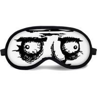 Máscara De Dormir Tritengo Meme - Unissex-Branco+Preto