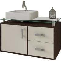 Gabinete De Banheiro Évora 1 Pt 2 Gv Café E Off White