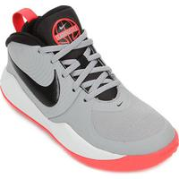 Tênis Infantil Nike Team Hustle D 9 Gs - Unissex-Cinza+Preto