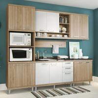 Cozinha Compacta Lareska Ii 12 Pt 3 Gv Argila