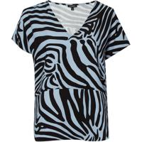 Blusa Le Lis Blanc Leticia Estampado Feminina (Zebra Print, 34)