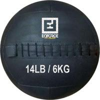 Wall Ball Medicine Ball Bola De Couro 6Kg P/ Crossfit, Treinamento Funcional - Enforce Fitness - Unissex