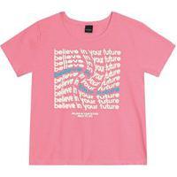Blusa Feminina Juvenil Smile Rovitex Teen Rosa