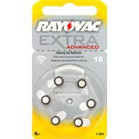 Bateria Para Aparelho Auditivo Rayovac Extra Advanced Tamanho 10 Com 6 Unidades