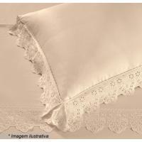 Fronha Cristal Florence Com Renda- Pã©Rola- 70X50Cm