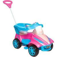 Carrinho De Passeio Infantil Calesita Road Com Empurrador - Feminino-Rosa+Azul