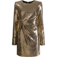 P.A.R.O.S.H. Vestido De Festa Com Paetês - Dourado