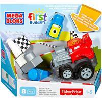 Mega Bloks First Builders Veiculos De Corrida - Mattel