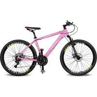 Bicicleta Kyklos Aro 26 Kivnon 8.5 Freio A Disco 21V Rosa/Preto