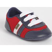 Tênis Com Tiras & Recortes- Vermelho & Azul Marinhotico Baby