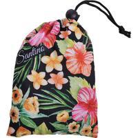 Capa Para Mala Floral- Preta & Rosa Claro- 5X3X2Cmsantino