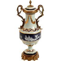 Vaso Decorativo De Porcelana E Bronze Shantou