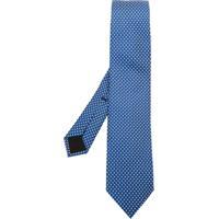 Boss Hugo Boss Gravata De Seda Estampada - Azul