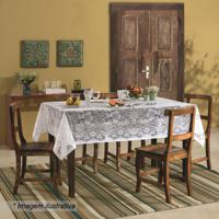 Toalha De Mesa Realeza- Branca- 210X150Cm- Leppelepper