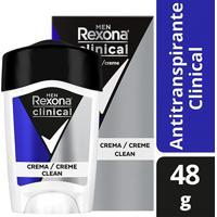 Desodorante Antitranspirante Rexona Clinical Azul Masculino 48G - Masculino-Incolor