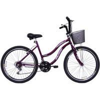 Bicicleta Feminina Aro 26 Com 18 Marchas Beach - Feminino