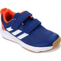 Tênis Adidas Fortagym Cf K Infantil - Unissex-Azul+Branco