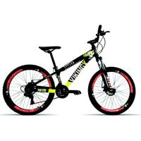 Bicicleta Aro 26 Vikingx 21 Velocidades Index Suspensão Spinner Aro Vmaxx Freio Disco - Unissex