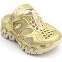 Babuche Infantil Reax Glitter Plugt Feminino - Feminino-Dourado