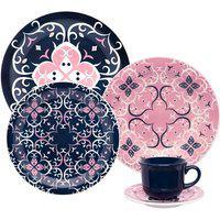 Aparelho De Jantar Oxford Cerâmica 20 Peças Floreal Hana