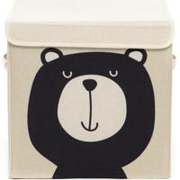 Caixa Organizadora Infantil Com Tampa - Urso Teddy