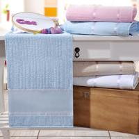 Toalha Banho Ponto Russo Azul - Kit Com 4 Unidades
