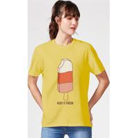 Camiseta Unissex Manga Curta Estampada Pop