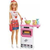 Barbie Mattel Cozinhando E Criando Chef De Bolinhos Fhp57