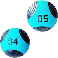Kit 2 Medicine Ball Liveup Pro 4 E 5 Kg Bola De Peso Treino Funcional - Unissex