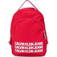 Calvin Klein Kids Mochila Com Estampa De Logo - Vermelho