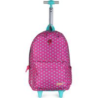 Mochilete Infantil Luxcel Princess Pink