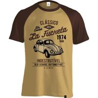 Camiseta Fórmula Retrô La Fuqueta Marrom