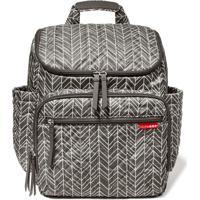 Bolsa Maternidade Skip Hop Coleção Forma Backpack - Unissex-Cinza+Branco