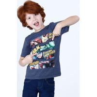 Camiseta Infantil Os Vingadores Manga Curta Marvel