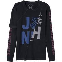 Camiseta John John Resistance Masculina (Preto, Pp)