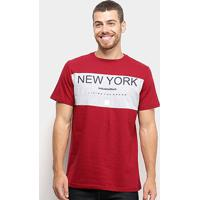 Camiseta Industrie Básica Masculina - Masculino-Bordô